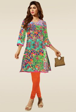 Ethnic Basket Multicolor U-Neck Kurti