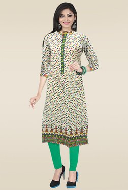 Ethnic Basket Multicolor Mandarin Collar Kurti