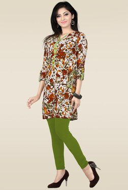 Ethnic Basket Multicolor Cotton Printed Kurti