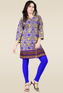 Ethnic Basket Blue Cotton Printed Kurti