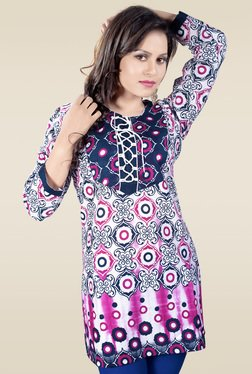 Ethnic Basket Multicolor Full Sleeves Kurti