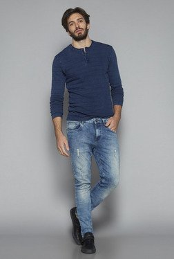 Nuon by Westside Indigo Slim Fit T Shirt