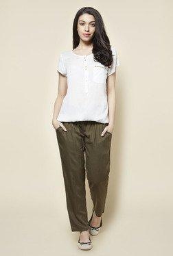 Zudio Olive Solid Pants