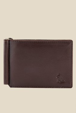 Kara Brown Leather Money Clip Wallet