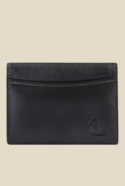 Kara Black Leather Card Holder