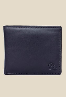 Kara Black Leather Bi-Fold Wallet