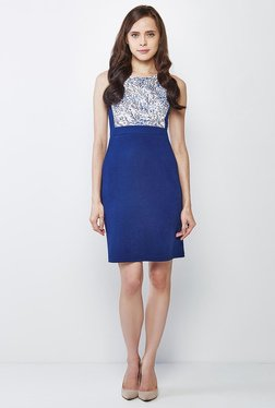AND Blue Printed Dress - Mp000000000876536