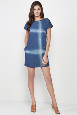 AND Blue Printed Dress - Mp000000000875896