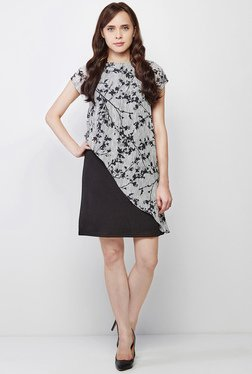 AND Grey & Black Printed Dress