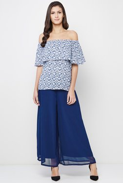 AND Blue Printed Top - Mp000000000877226