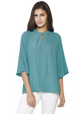 AND Teal Solid Top