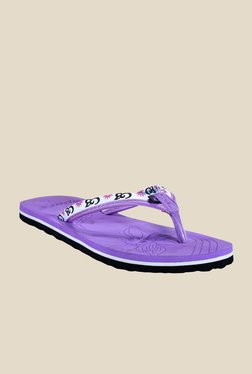 Sparx Purple & White Flip Flops