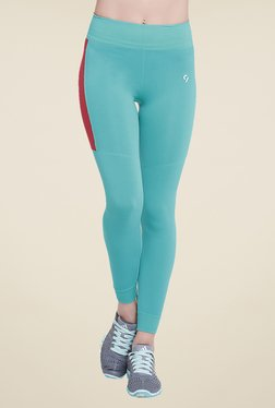 C9 Seamless Green Solid Trackpants