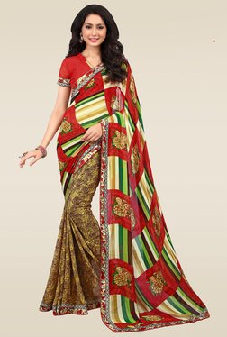 Ishin Multicolor Ethnic Saree With Blouse