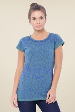 C9 Blue Embroidered Top
