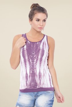 C9 Purple Printed Tank Top