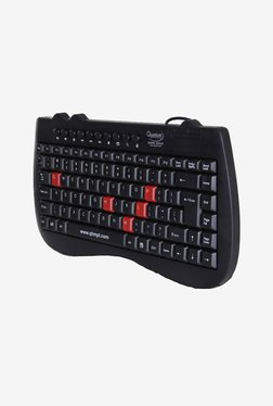 Quantum QHM7309 Mini Slimtek Multimedia Keyboard (Black)