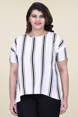 LASTINCH White Striped Top
