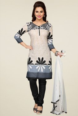 Ethnic Basket Off-White Straight Cut Salwar Suit