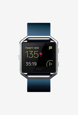 Fitbit Blaze Smart Fitness Watch, Small (Blue/Silver)