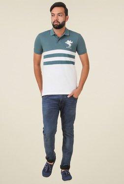Spunk Green & White Printed T-shirt