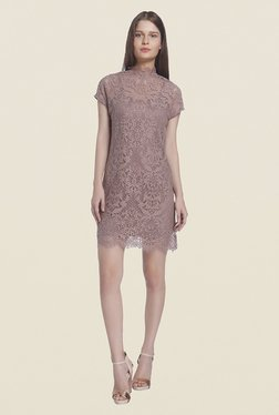 Vero Moda Brown Lace Dress