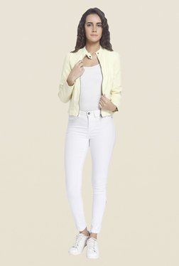 Vero Moda Yellow Solid Jacket
