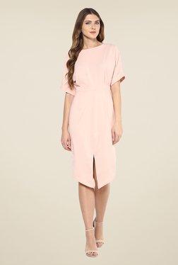 Femella Pink Solid Dress - Mp000000000885708