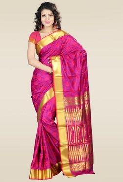Janasya Pink Kanjivaram Art Silk Saree