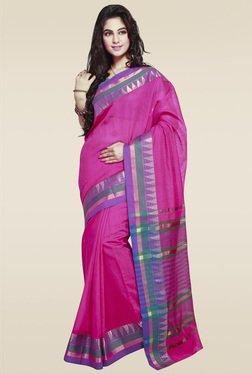 Janasya Pink Handloom Art Silk Saree