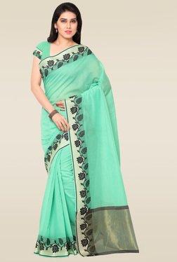Janasya Green Chanderi Saree