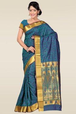 Janasya Blue Kanjivaram Saree