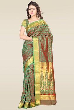 Janasya Green Kanjivaram Saree