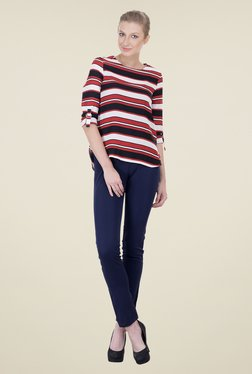 Oxolloxo Red & White Striped Top