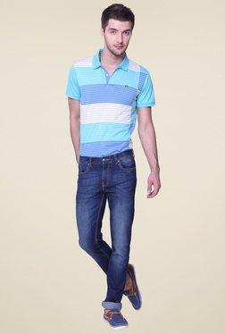 Vudu Navy Slim Fit Cotton Mid Rise Jeans