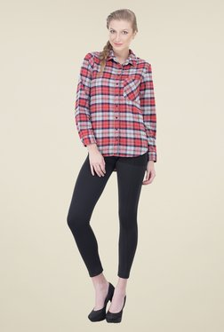 Oxolloxo Red & Grey Checks Shirt