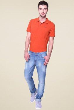 Vudu Blue Cotton Slim Fit Mid Rise Jeans