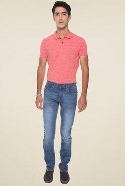 Vudu Blue Cotton Mid Rise Slim Fit Jeans