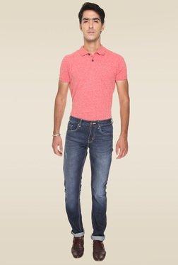 Vudu Blue Cotton Mid Rise Slim Fit Jeans - Mp000000000894204