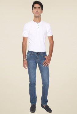 Vudu Blue Cotton Mid Rise Jeans