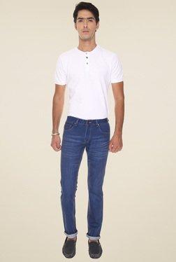 Vudu Blue Cotton Slim Fit Mid Rise Jeans - Mp000000000894258