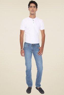 Vudu Blue Cotton Mid Rise Jeans - Mp000000000894268