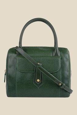 Hidesign Hong Kong 03 SB Green Leather Bowler Bag