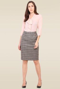 Saiesta Brown Casual Skirt