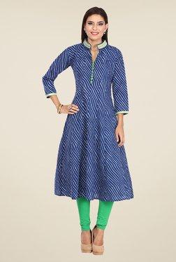 e0060b24161 Nayo Blue Printed Anarkali Kurta Best Deals With Price Comparison ...