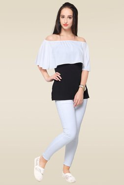 Ahalyaa Black Off Shoulder Top