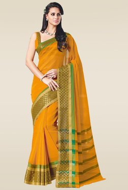Ishin Yellow Paisley Zari Saree With Blouse
