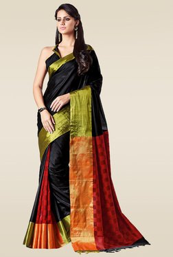 Ishin Black Zari Saree With Blouse