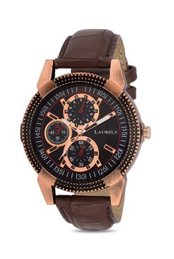 Laurels Lo-Cp-020905 Copper Analog Watch For Men