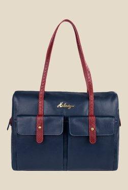 Hidesign London 01 SB Navy Leather Shoulder Bag